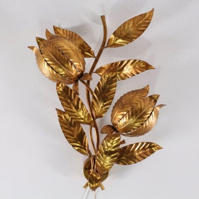 Hans Kögl gilt flower sconce