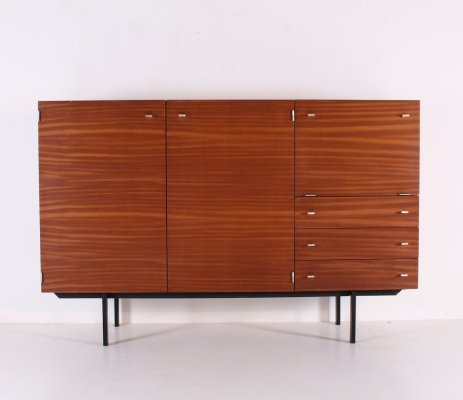 Modernist highboard cabinet by Pierre Guariche for Meurop