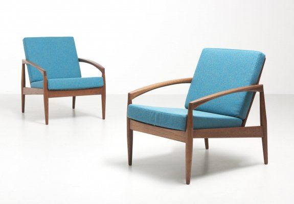 2 'paper knife' easy chairs by Kai Kristiansen