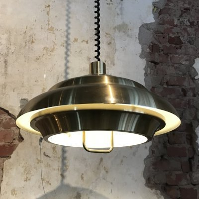 Brass Design Hanging Lamp by Dijkstra, 1970s
