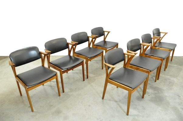 Set of 8 Vintage teak dining chairs by Kai Kristiansen for Bovenkamp, 1960s