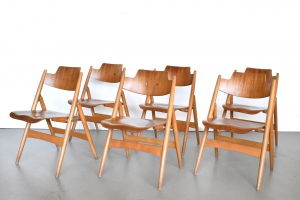 Set of 6 SE 18 dining chairs by Egon Eiermann for Wilde und Spieth, 1960s