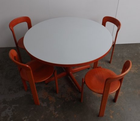 Dining set by Bruno Rey for Kusch & Co, 1970s