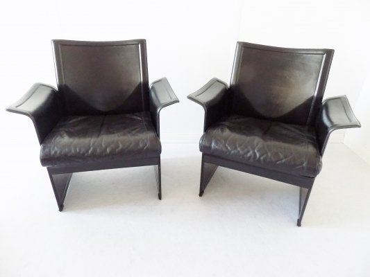 Pair of Matteo Grassi Korium Lounge Chairs, 1970s