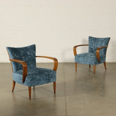 Pair of 1950s Vintage Armchairs