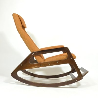 1970 Vintage Rocking Armchair by ÚLUV