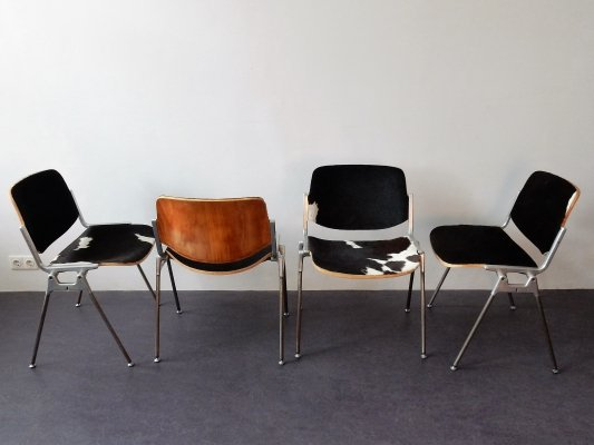 Set of 4 DSC stacking chairs by Giancarlo Piretti for Castelli