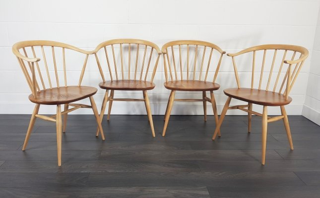 Four Cow Horn Dining Chairs by Lucian Ercolani for Ercol, 1960s