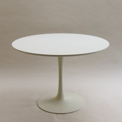 White Tulip Dining Table by Maurice Burke for Arkana, 1960s