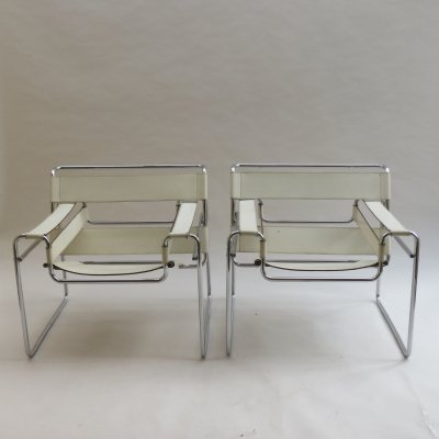 Wassily B3 chairs by Marcel Breuer for Gavina, 1968