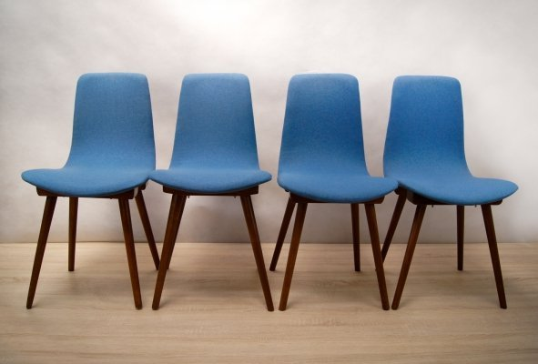 Set of 4 'A-6150' Chairs by Fameg, 1960s