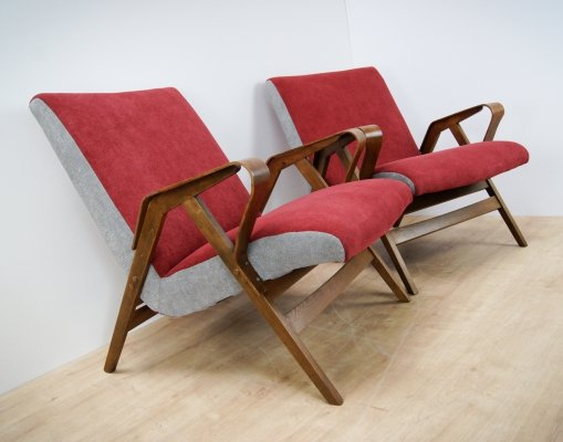 Pair of Armchairs by František Jirak for Tatra, 1960s