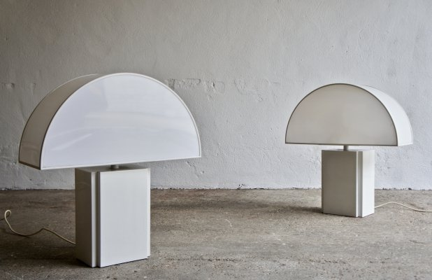2 x Lamp Olympe by Harvey Guzzini for E D, 1970s