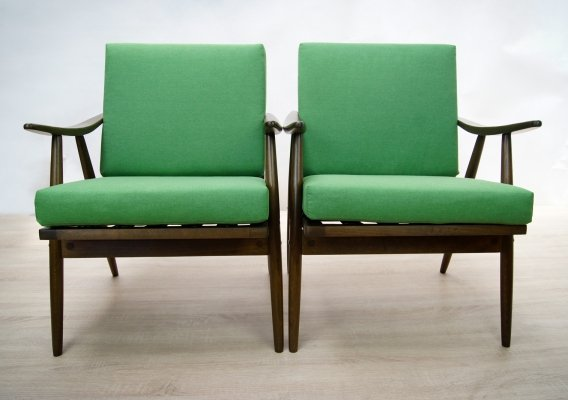 Pair of Czech Armchairs from TON, 1960s