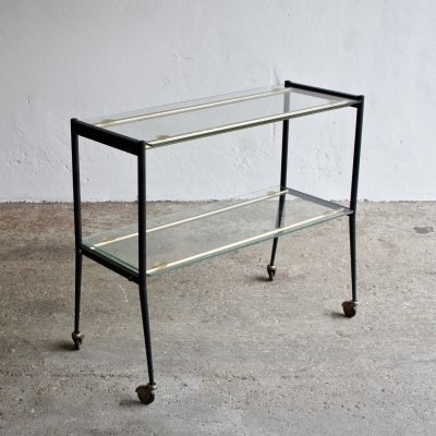 Glass Shelf Trolley, 1960s
