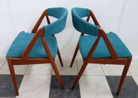 Pair of Model 31 dining chairs by Kai Kristiansen for Schou Andersen Møbelfabrik, 1960s