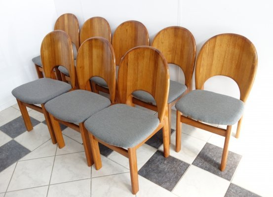 Set of 8 Glostrup Møbelfabrik dining chairs, 1970s