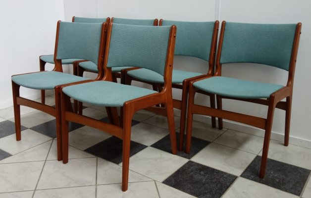 Set of 6 Danish dining chairs by Henning Kjærnulf, 1960s
