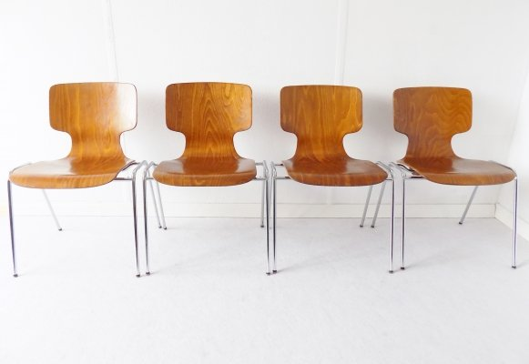 Set of 4 Wilkhahn Conference Chairs, 1970s