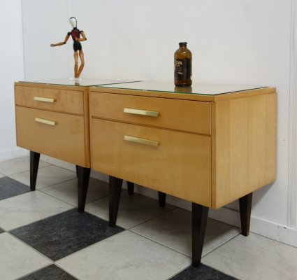 Pair of night stand cabinets, 1960s