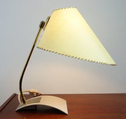Yellow shade desk lamp, 1950s