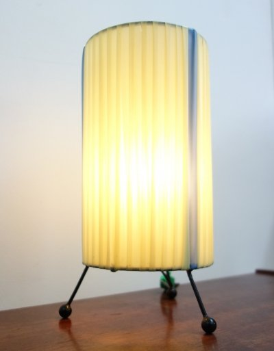 Yellow wire table lamp, 1960s