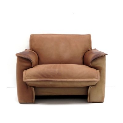 2 x High quality leather easy chair by Leolux, 1970s