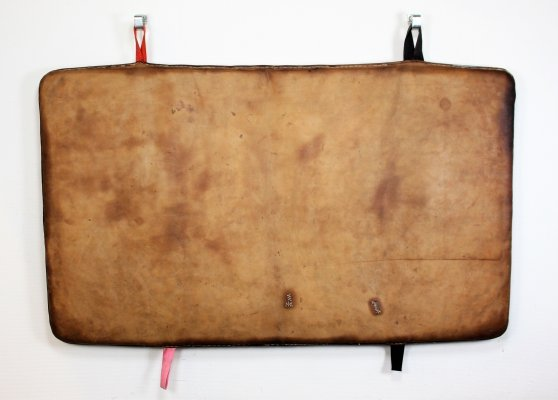 Vintage leather gym mat from the Czech Republic