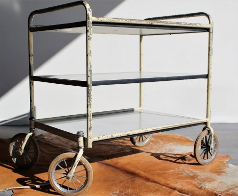 Authentic Industrial hospital trolley