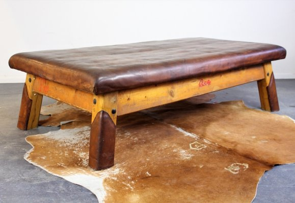 Vintage gym table from the Czech Republic