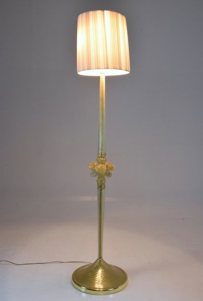 Italian Vintage Murano Floor Lamp by Barovier & Toso, 1950's