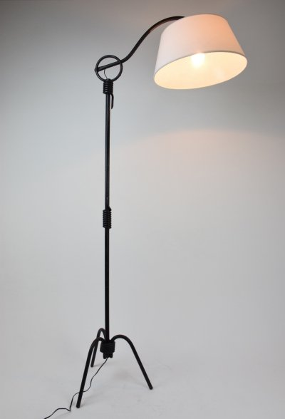 Vintage Iron Floor Lamp by Jean Royère