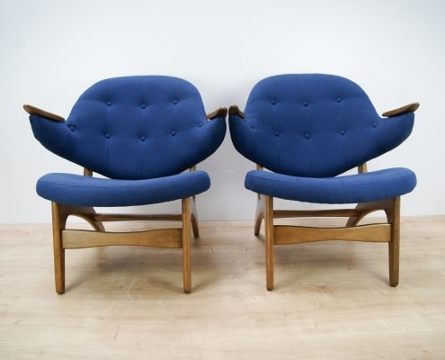 Pair of Model 33 Armchairs by Carl Edward Matthes, 1950s