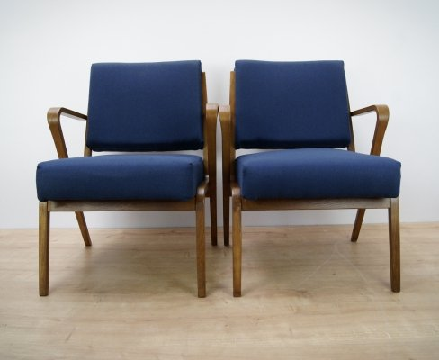 Pair of Armchairs by S. Selmanagic for VEB Deutsche Werkstätten Hellerau, 1960s