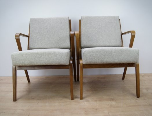Pair of Armchairs by S. Selmanagic for VEB Deutsche Werkstätten Hellerau,1960s