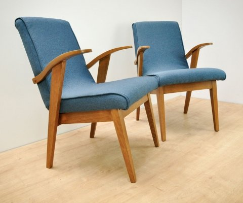 Pair of Armchairs Model 300-123 by M. Puchała for Bystrzycka Furniture Factory, 1960s