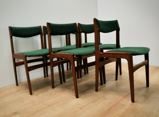 Set of 6 Dining Chairs by Erik Buch for Oddense Maskinsnedkeri, 1960s