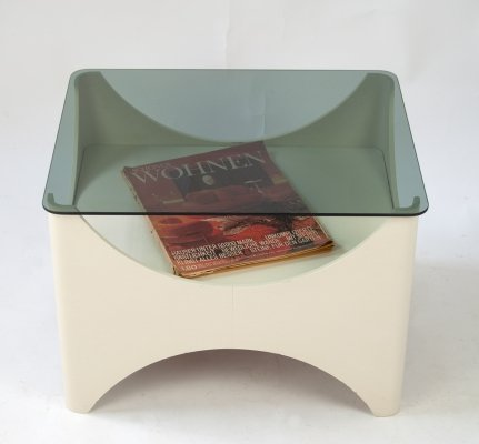 1960s Side Table with Magazine Rack