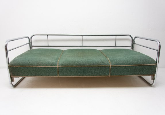 Chromed Bauhaus sofa, 1930s