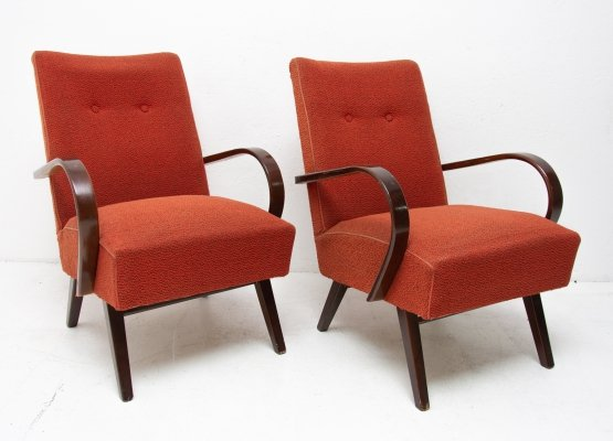 Pair of Mid century lounge chairs by Jaroslav Smidek, Czechoslovakia 1960s
