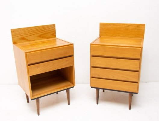 Pair of Mid century modern night stands from ÚP Závody, 1960s