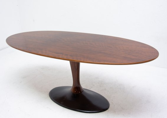 Vintage oval coffee table from Czechoslovakia, 1970s