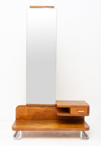 Oak dressing table / Vanity by Vichr & spol, Bauhaus period 1930's