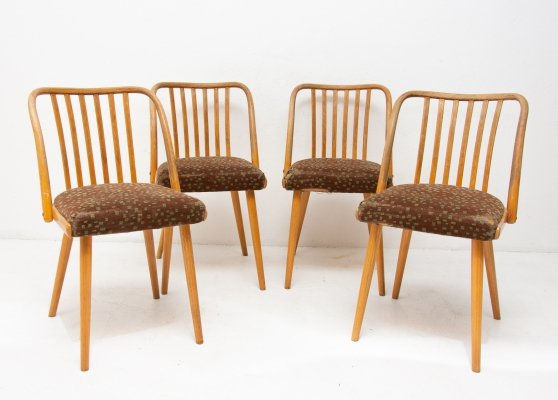 Set of 4 Antonin Šuman dining chairs, 1960s