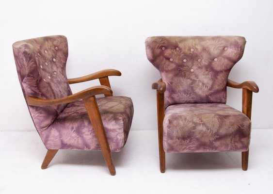 Pair of Krásná Jizba arm chairs, 1950s