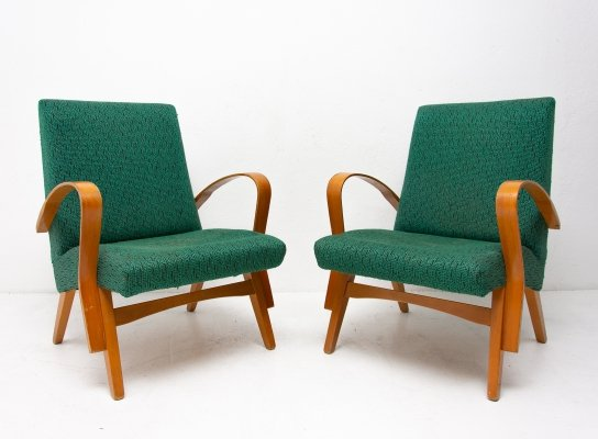 Pair of arm chairs by František Jirák for Tatra Nabytok Pravenec, 1960s