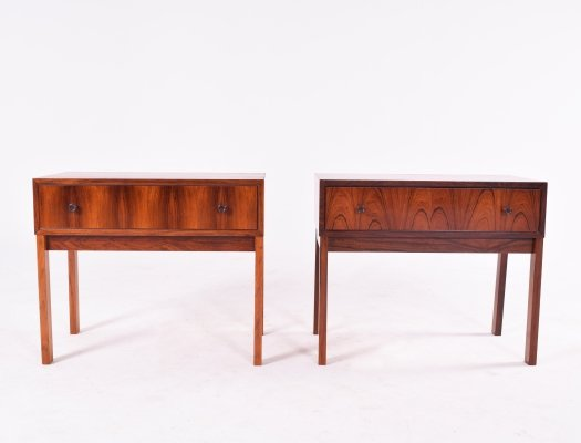 Midcentury Danish Rosewood Bedside Tables