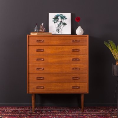 Scandinavian design Teak chest of drawers, Germany 1950s