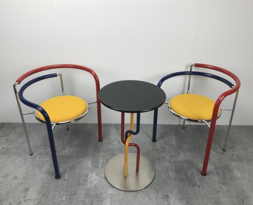 Dark Horse multicolored seating group with coffee table by Rud Thygesen & Johnny Sorensen for Botium