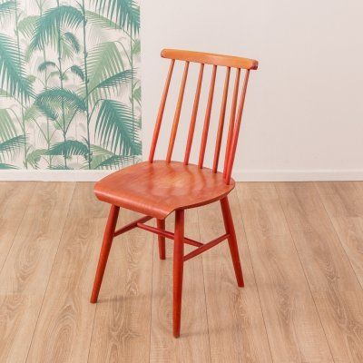 Solid wood kitchen chair from the 1950s